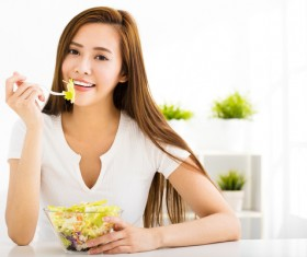 asian diet plan healthy weight loss woman eating